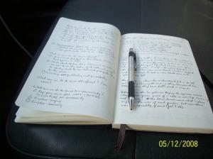 My Large Ruled Moleskine Notebook