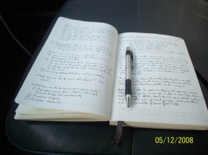 My Large Ruled Moleskine Notebook